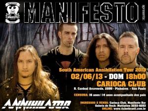 Annihilator no Carioca Club - Cartaz de Divulgação
