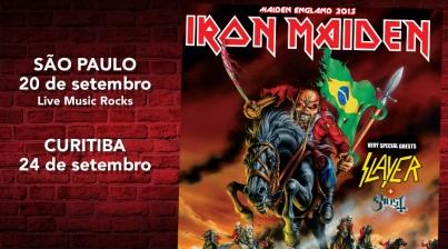 Iron Maiden confirma mais 2 shows no Brasil em setembro