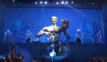 Iron Maiden em SP - Reprodução do YouTube