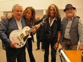 Mujica e Aerosmith - Foto: Divulgação Aerosmith