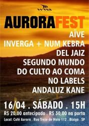 Aurora Fest - Reprodução do cartaz de divulgação