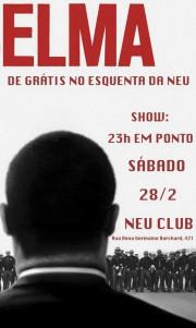 Elma - Cartaz de divulgação do show em SP