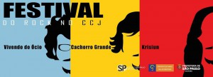 Festival do Rock no CCJ - Cartaz de DIvulgação