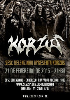 Korzus em SP - Cartaz de Divulgação do Show