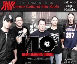 Nem Liminha Ouviu no Centro Cultural SP - Reprodução do Cartaz do Show