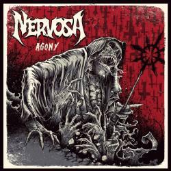 """Nervosa - Reprodução da capa do disco """"Agony"""""""