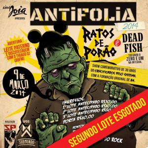 Antifolia - Reprodução do Cartaz do evento