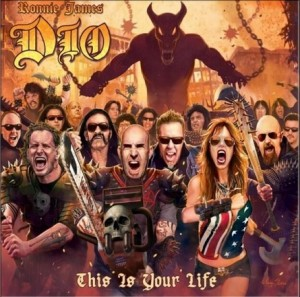 Scott Ian, do Anthrax, na capa do tributo a Ronnie James Dio - Reprodução