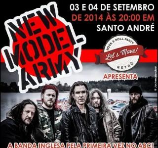 New Model Army no ABC - Cartaz de Divulgação