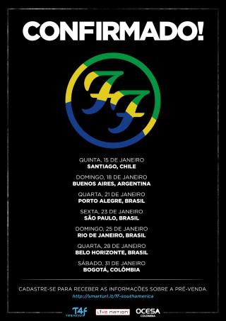 Foo Fighters - Reprodução do Banner de Divulgação da T4F