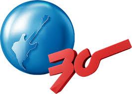 Rock in Rio - Reprodução do Logo de 30 Anos