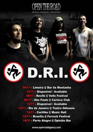 D.R.I. - Cartaz da Turnê pelo Brasil 2014