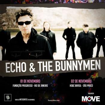 Echo & The Bunnymen - Reprodução de Cartaz dos Shows no Brasil em 2014