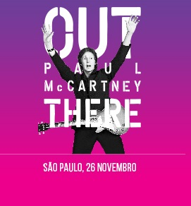Paul McCartney - Cartaz do Show Extra em SP