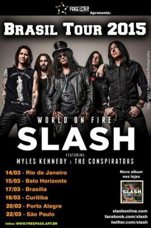 Slash - Reprodução do Cartaz da Turnê de 2015 pelo Brasil