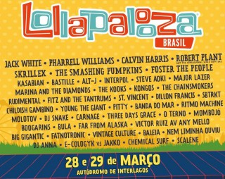 Lollapalooza 2015 - Reprodução do Cartaz de Anúncio