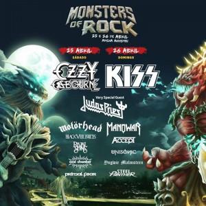 Monsters of Rock - Cartaz Atualizado de Divulgação