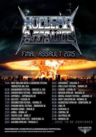 Nuclear Assault - Cartaz de Divulgação da Turnê de 2015