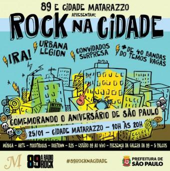 Rock na Cidade - Cartaz de Divulgação