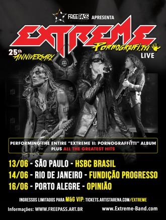 Extreme no Brasil - Cartaz de Divulgação