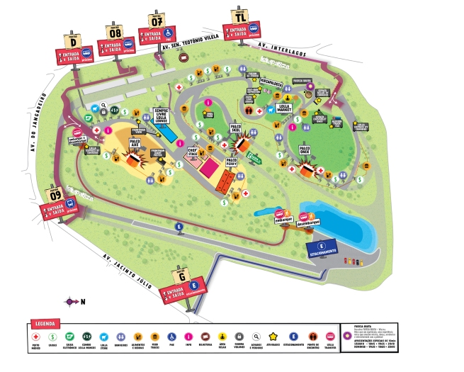 Mapa do Lollapalooza 2015