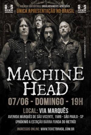 Machine Head em SP - Cartaz de Divulgação