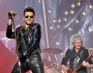Adam Lambert com o guitarrista do Queen, Brian May - Foto: Divulgação