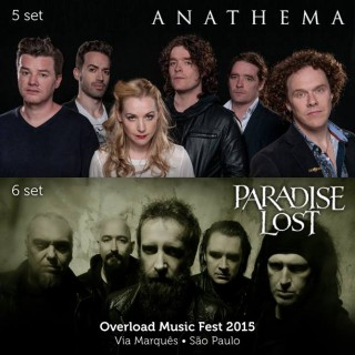 Anathema e Paradise Lost - Reprodução de Cartaz do Overload Music Fest