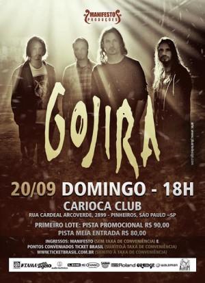 Gojira em SP - Cartaz de Divulgação
