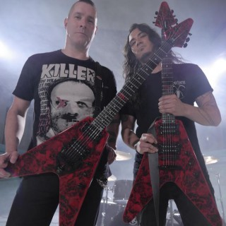 Jeff Waters e Aaron Homma, do Annihilator - Foto: Divulgação