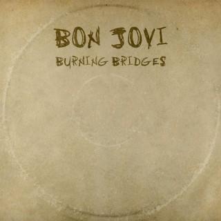 """Reprodução da capa de """"Burning Bridges"""", do Bon Jovi"""