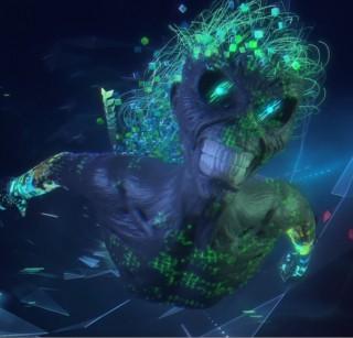 Reprodução da imagem do mascote Eddie no novo clipe do Iron Maiden