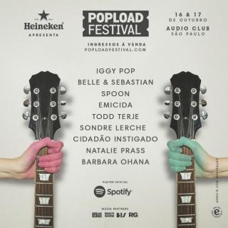 Popload Festival - Cartaz de Divulgação