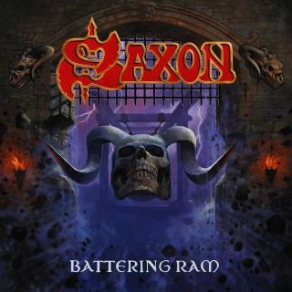 """Reprodução da capa do disco """"Battering Ram"""", do Saxon"""