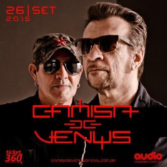 Camisa de Vênus - Cartaz de Divulgação do show no Audio Club