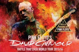 Reprodução de cartaz da turnê de David Gilmour