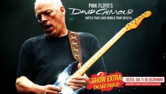 David Gilmour - Cartaz do Show Extra - Reprodução