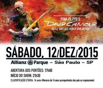 David Gilmour em SP - Cartaz de Divulgação
