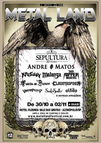 Metal Land Festival - Cartaz de Divulgação