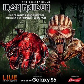 Iron Maiden no Brasil - Cartaz de Divulgação