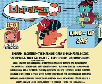 Lollapalooza 2016 - Cartaz de Divulgação