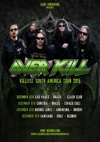 Overkill - Cartaz de Divulgação da turnê na América do Sul
