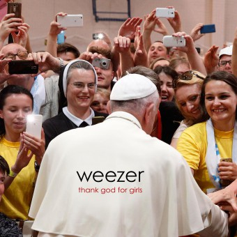 "Weezer - Reprodução da capa do single ""Thank God for Girls"""