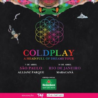 Coldplay no Brasil 2016 - Cartaz de Divulgação