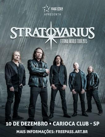 Stratovarius - Cartaz do show em SP