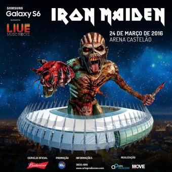 Iron Maiden em Fortaleza - Cartaz de Divulgação