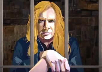 Dave Mustaine, do Megadeth, em reprodução do clipe no YouTube