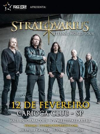 Stratovarius - Cartaz de Divulgação do show em SP