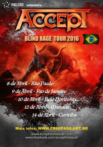 Accept no Brasil - Cartaz de Divulgação da Turnê de 2016
