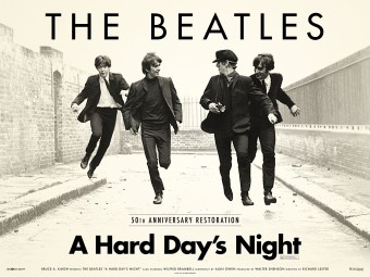 "The Beatles: A Hard Day's Night"" - Reprodução do Cartaz do filme"